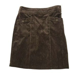 CHRISTOPHER & BANKS Brown Corduroy Skirt Size 10